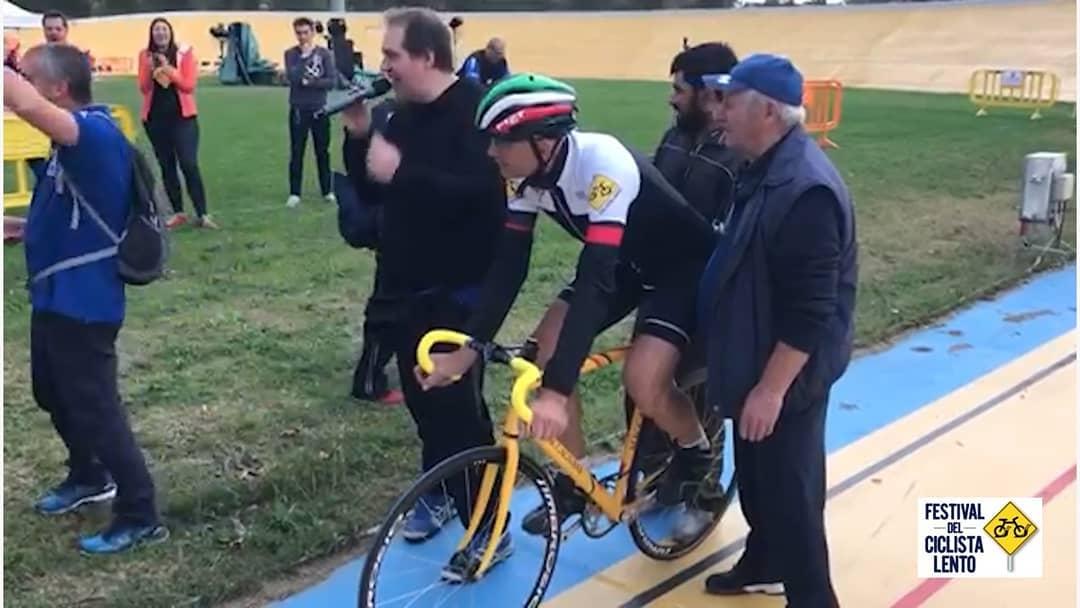 Gibì Baronchelli nell'ottobre 2018 a #Ferrara, al Festival del Ciclista Len…